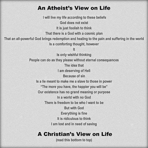 Comparing a Christian and Atheist View On LIfe